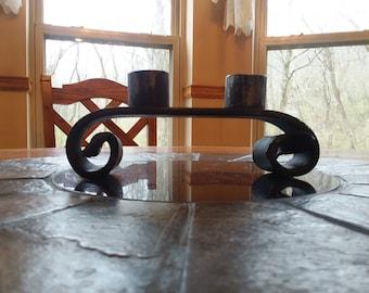 Rustic Handmade candle holder: candelabra