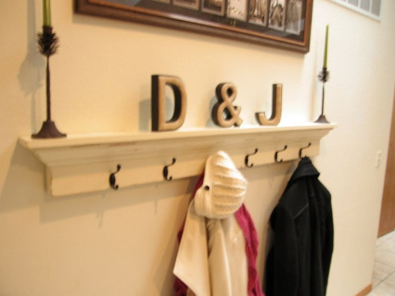 white entryway shelf and coat hanger wall shelf with hooks. Black Bedroom Furniture Sets. Home Design Ideas