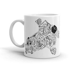 Bee Wild ceramic coffee Mug