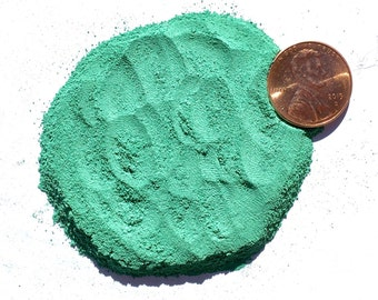 Crushed Malachite Stone Inlay, Powder, 1/2 Ounce