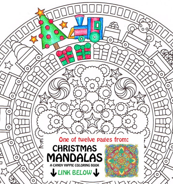 christmas mandala coloring page christmas morning. Black Bedroom Furniture Sets. Home Design Ideas