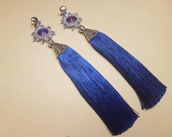 Natural silk earrings
