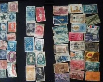 205 Old Circulated Stamps