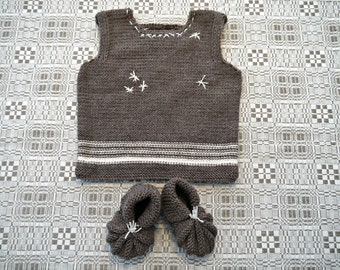 Hand knitted Toddler vest