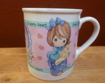 ENESCO mug A Warm Heart Precious Moments 1997 Valentine