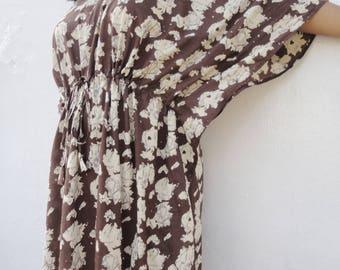Kaftan, Butterfly dress, Caftan, Muuumuu dress, Bohemian clothing, Poncho, Cotton Caftan, Jupe, Women Tunic, Shirt, Ethnic, Summer dress
