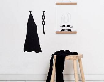 Wall decals / wall stickers super hero Cape