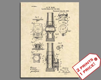 Fireman Home Decor - Fireman Wall Art - Fire Hose Prints - Firefighter Patent Print - Fireman Gifts - Vintage Patent Poster Patent Art - 415