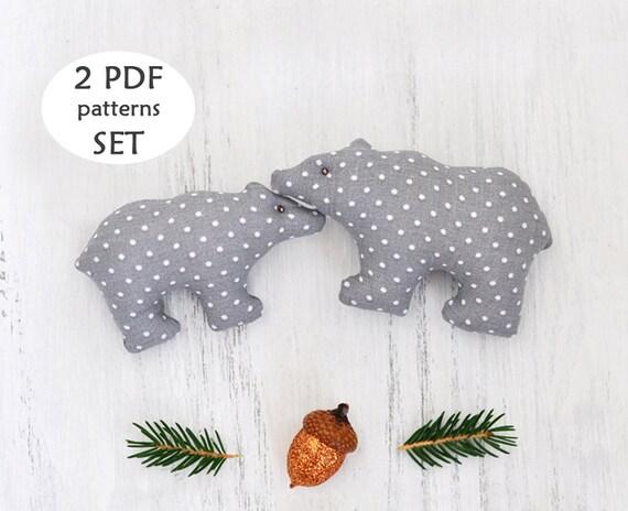 Polar Bear Sewing Pattern. Christmas Sewing Project. Polar Bear ...