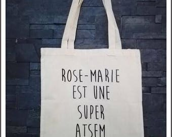 "tote bag - gift for pre-school ""super school"" personalized canvas bag"
