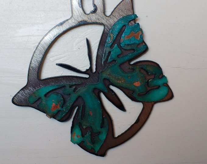 Patina Butterfly Ornament