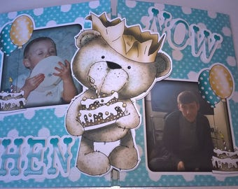 Boys 18th Birthday Card, Photo Card, Personalised Boys 18th Birthday card, Boy Card, Father's Day Card, Large Birthday Card, Pop Out Card,