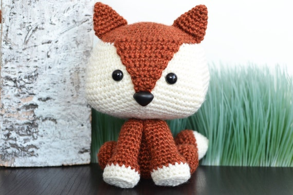 Amigurumi Crochet Pattern : Fox crochet pattern. felix the fox amigurumi crochet pattern. cute