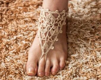 Wedding jewelry feet,  Summer Trending, Wedding sandals, Crochet Barefoot Sandals, Nude Shoes, Sexy Feet, Belly Dance, LoveKnittings