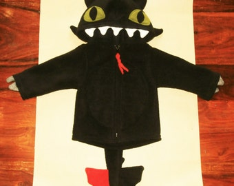 Toothless hoodie etsy baby toothless dragon hoodie how to train your dragon fancy dress costume ccuart Choice Image