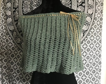 Handmade Sage Green Lace Capelet