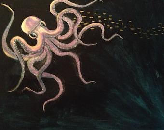 Night swimming; squid at night