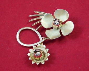 Vintage Gold Flower Broach