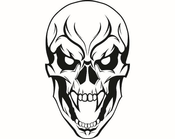 Tête de mort 28 crocs tête de mort tatouage tueur squelette