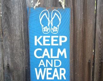 flip flops, flip flop decor, flip flop decoration, Keep Calm And Wear Flip Flops