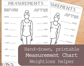handmade measurement inserts etsy