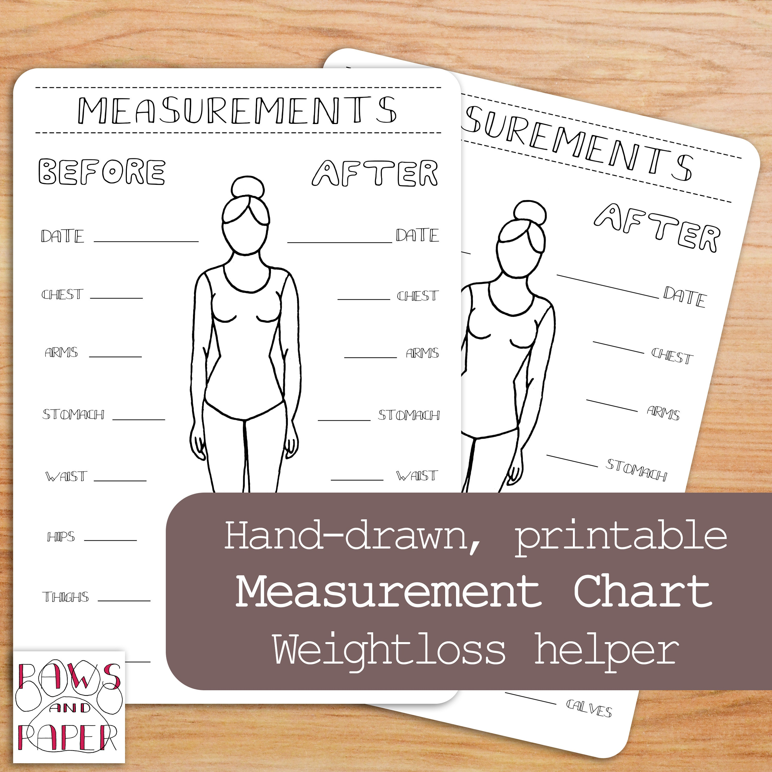 Weight Loss Measurements Chart Kenindlecomfortzone