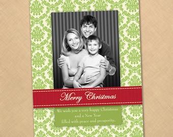 Printable Christmas Holiday Photo Card //////1