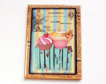 Cupcake magnet, Baking Magnet, Magnet, Fridge magnet, Kitchen magnet, ACEO, stocking stuffer, Magnet, Pastel Colors (4475)