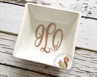Monogram Jewelry Dish | Ring Dish