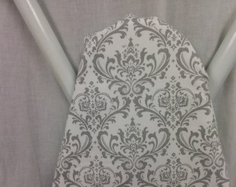 DAMASK IRONING BOARD Cover grey and white damask ironing Board cover Madi, with or without pad