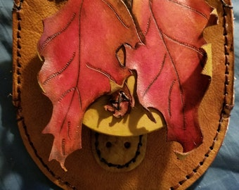 Oak leaf side bag