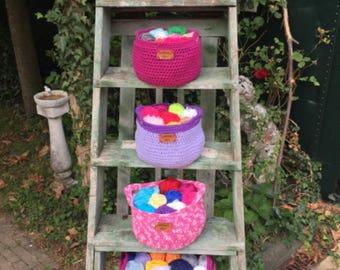 Storage Basket crochet 8 LANGUAGES