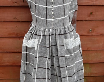 1950s vintage check dress