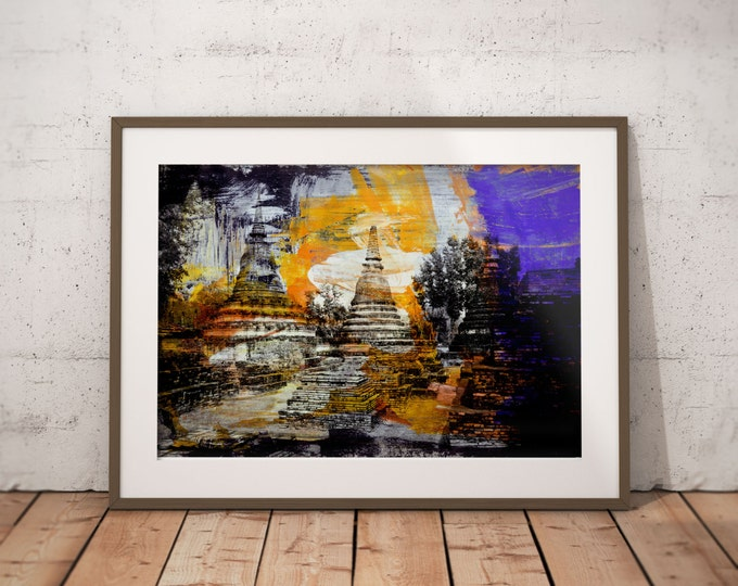 Ancient Asia XIII by Sven Pfrommer - Artwork is ready to hang with a solid wooden frame