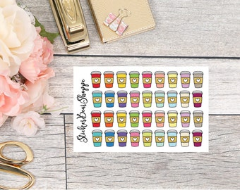 Coffee Planner Stickers - For Erin Condren Life Planner or Happy Planner