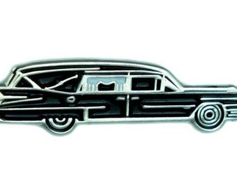 Hearse Undertaker Funeral Car Lapel Pin Gothic Jewelry Cemetery Jacket Pin - YDS-6BRY006-PIN