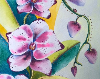 White Orchids Print