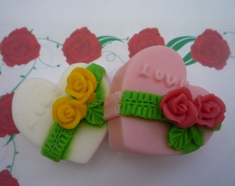 mothers day heart soaps x 2