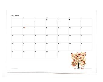 Printable 2017 Organizer CALENDAR - MONTHLY ORGANIZER - daily Planner