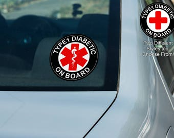 Car Decal, Diabetes Related