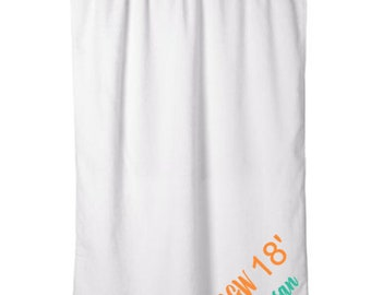 6th Annual Girlfriends Getaway personalized Beach Towel