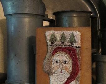 "Punch Needle Pattern - ""Santa Mitten"""