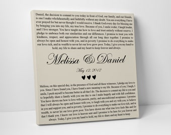 Wedding Vows Print, Valentines Day Gift