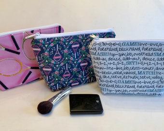 Tennis Gifts - Tennis - Zippered Pouch - Makeup Bag - Cosmetic Bag - Tennis Gifts Girl - Tennis Team Gifts
