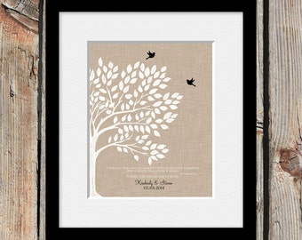 Gift for Our Parents, Parent Gift, Roots and Wings Tree Print, Love Bird Tree, Mom and Dad's Thank You Gift, His Mom and Dad's Gift