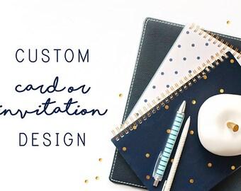Custom Greeting Card, Custom Wording on Cards, Custom Cards, Custom Invitations, Customized Greeting Card, Custom Holiday Cards, Note Card