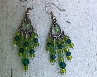 Swarovski handmade beaded earrings
