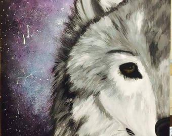 ALPHA||GLOW in the Dark Acrylic Wolf