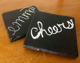 Chalkboard Coasters- set of 4