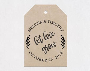 Wedding Stamp, Wedding, Gift Tag, Wedding Shower, Gift Bag, Wedding Favors Stamp, Let Love Grow, Clear Block Stamp --25160-CB17-000